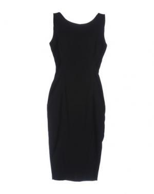 Платье до колена SFIZIO. Цвет: черный