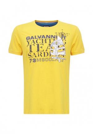 Футболка Galvanni. Цвет: желтый