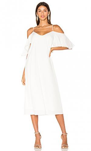 Платье с прорезями на плечах sun BLAQUE LABEL. Цвет: белый