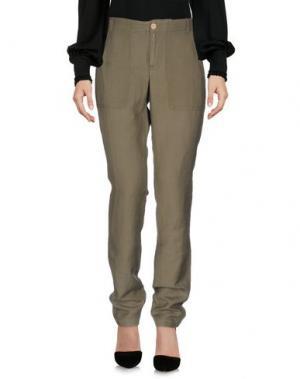 Повседневные брюки LEO & SAGE. Цвет: зеленый-милитари