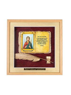 Панно большое Ангел Хранитель Urazaev shop. Цвет: светло-коричневый