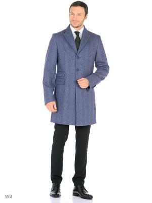 Пальто Bazioni. Цвет: голубой