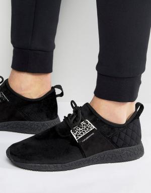 Cayler & Sons Черные кроссовки со стеганой вставкой на заднике Katsuro. Цвет: черный