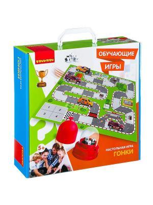 Обучающие игры Bondibon Настольная игра ГОНКИ, BOX 32х9x32 см. Цвет: зеленый, белый, светло-оранжевый