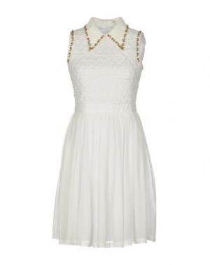 Короткое платье MANOUSH. Цвет: белый