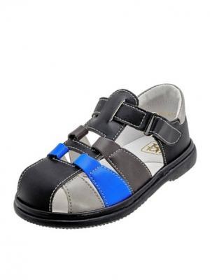 Сандалии ТОП-ТОП. Цвет: черный, голубой, светло-серый