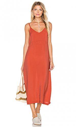 Платье-комбинация alma LACAUSA. Цвет: тёмно-оранжевый