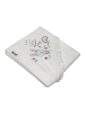 Банное полотенце с уголком Bebitof Baby. Цвет: розовый
