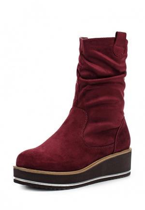 Полусапоги Ideal Shoes. Цвет: бордовый