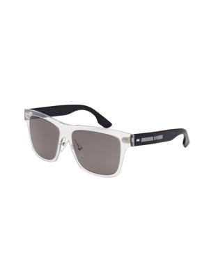 Солнцезащитные очки McQueen. Цвет: прозрачный