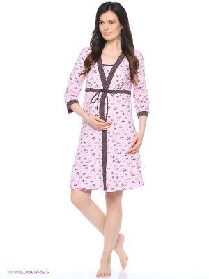 Комплект для беременных и кормящих FEST. Цвет: розовый, коричневый, бежевый