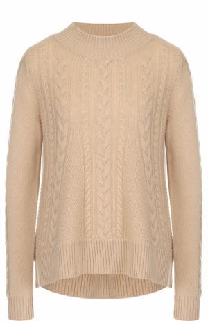 Кашемировый пуловер фактурной вязки FTC. Цвет: бежевый