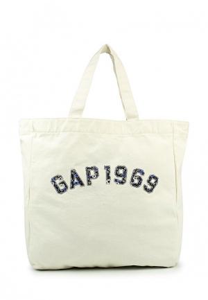 Сумка Gap. Цвет: белый