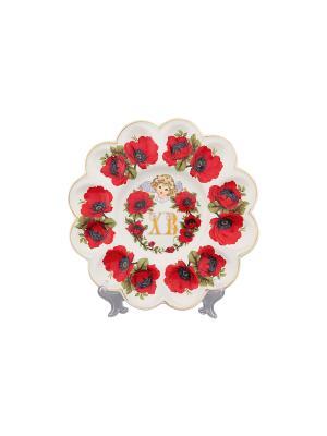 Тарелка для фаршированных яиц ХВ Маки Elan Gallery. Цвет: красный, белый