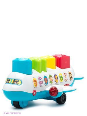 Развивающая игрушка Самолет-сортер PlayGo. Цвет: белый, голубой, красный, желтый
