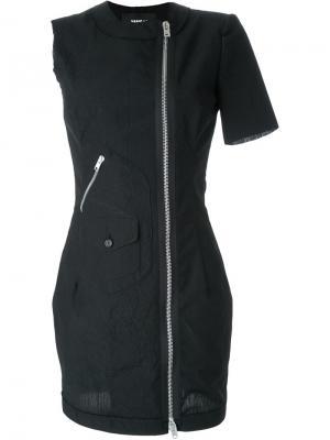 Платье с двухсторонней застежкой-молнией Yang Li. Цвет: чёрный