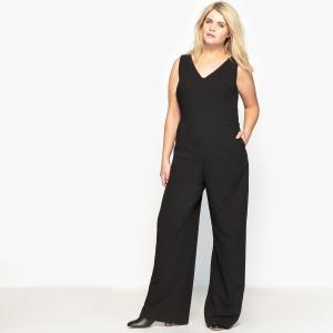 Комбинезон с широкими брюками без рукавов CASTALUNA. Цвет: черный