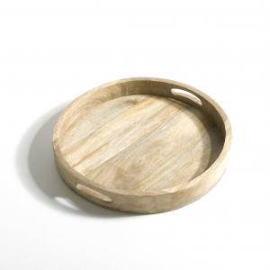Поднос из мангового дерева Ø40 см, Wood AM.PM.. Цвет: серо-бежевый