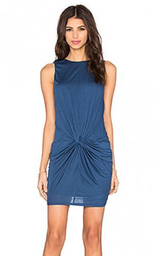 Платье с защипом perfect modal twenty. Цвет: синий