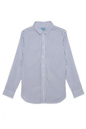 Хлопковая рубашка MoS. Цвет: белый, черный