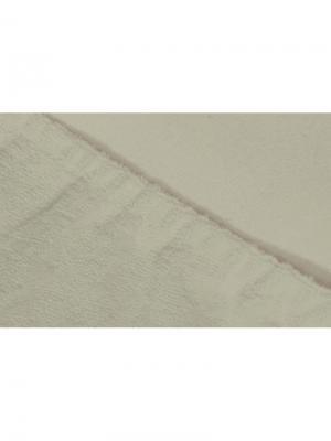Простыня на резинке махровая 160х200 ECOTEX. Цвет: молочный
