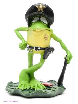 Фигурка-лягушка Секьюрити The Comical World of Stratford. Цвет: зеленый, черный