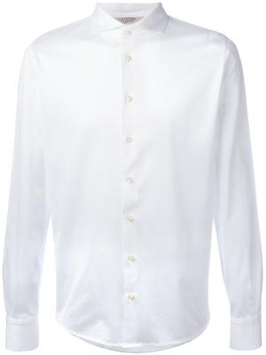 Классическая рубашка La Fileria For Daniello D'aniello. Цвет: белый