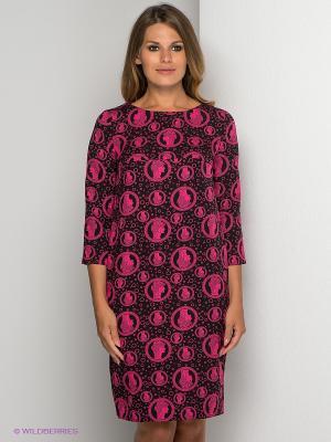 Платье AKIMBO. Цвет: черный, фуксия