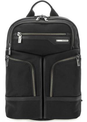 Текстильный рюкзак с двумя отделами на молниях Samsonite. Цвет: черный