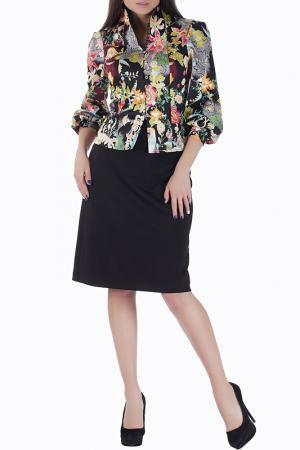 Комплект с юбкой Mannon. Цвет: черно-малиновый