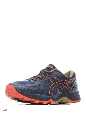 Кроссовки GEL-FujiTrabuco 6 ASICS. Цвет: черный, голубой, коричневый