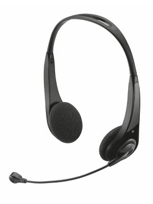 Стереогарнитура 15481  Trust InSonic Chat Headset. Цвет: черный