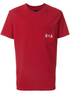 Logo print T-shirt Rta. Цвет: красный