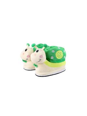 Тапочки Snails (зеленые) Kawaii Factory. Цвет: зеленый