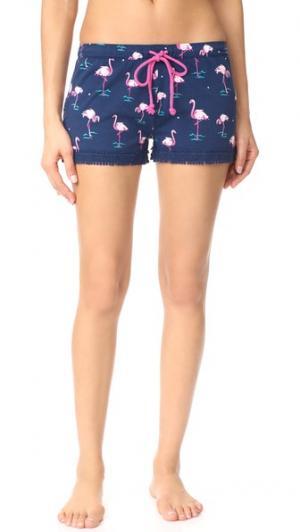 Игривые пижамные шорты PJ Salvage. Цвет: темно-синий