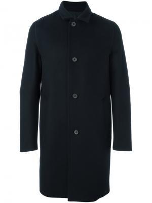 Однобортное пальто Wooyoungmi. Цвет: синий