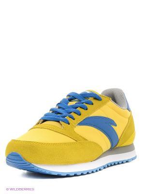 Кроссовки ANTA. Цвет: желтый, белый, синий, серый