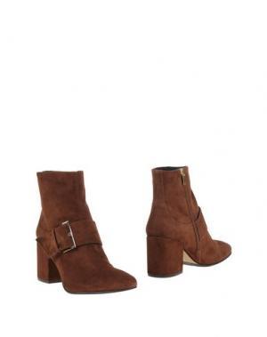 Полусапоги и высокие ботинки BRUNO PREMI. Цвет: коричневый