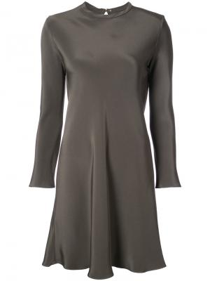 Long sleeve midi dress Peter Cohen. Цвет: зелёный