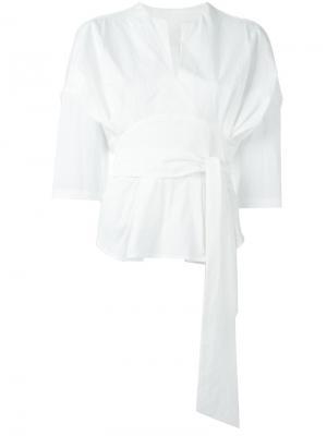 Рубашка c V-образным вырезом Mame. Цвет: белый