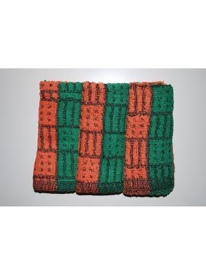 Комплект полотенец 3пр  Клетка 30х70 La Pastel. Цвет: зеленый, оранжевый
