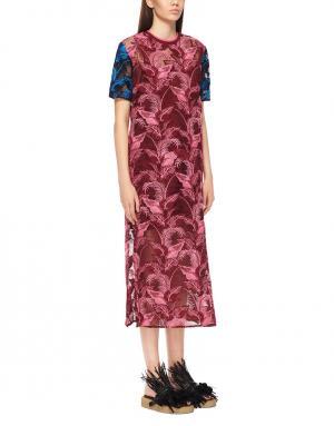 Платье  с принтом House of Holland. Цвет: фуксия, синий