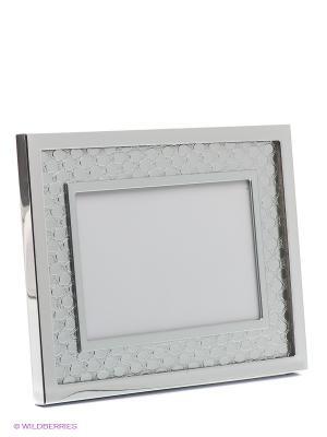 Фоторамка faux leather VELD-CO. Цвет: белый, серебристый