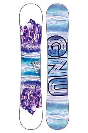 Сноуборд  16 Asym B-nice 145 Btx White/Blue GNU. Цвет: белый,голубой