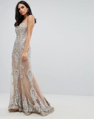 Forever Unique Платье макси. Цвет: золотой