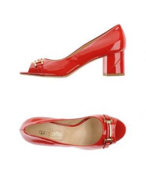 Туфли DEL GATTO. Цвет: красный