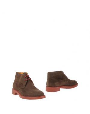 Полусапоги и высокие ботинки DOMENICO TAGLIENTE. Цвет: темно-коричневый
