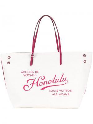 Сумка-тоут Cabas Honolulu Louis Vuitton Vintage. Цвет: белый
