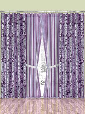 Комплект штор Wisan. Цвет: лиловый