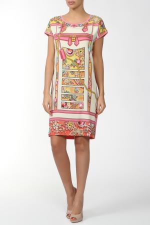 Платье CLIPS MORE. Цвет: розовый